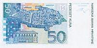 croatian currency - 50 kuna bill