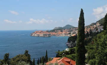 Dubrovnik Croatia can be seen from front panorama photo