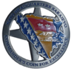 Excellence coin as awarded by the Nato Commander after his Dubrovnik Tour