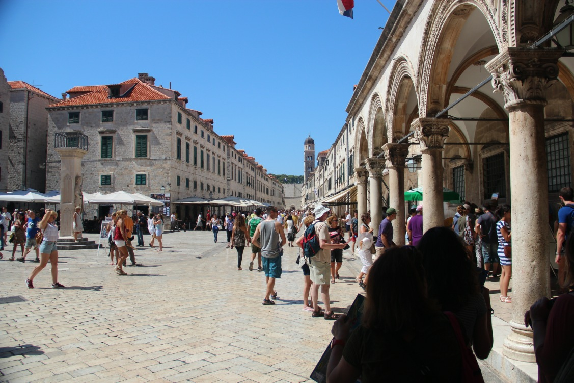 Most famous street of Dubrovnik is Stradun, all Dubrovnik tours pass Stradun