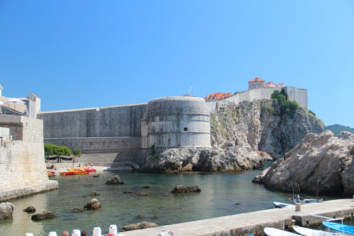 Bokar fortress is and Kolorina bay in Dubrovnik are viewed from the Western point. A GOT reminescant photo