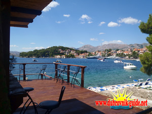View of Cavtat from the coffee bar terrace