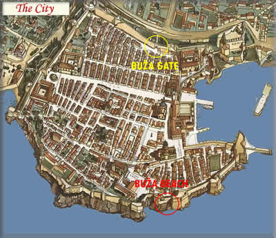 dubrovnik old town city map