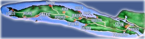 Peljesac Map