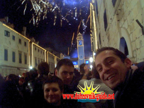 New Year in Dubrovnik - Celebration on Placa street (Stradun)